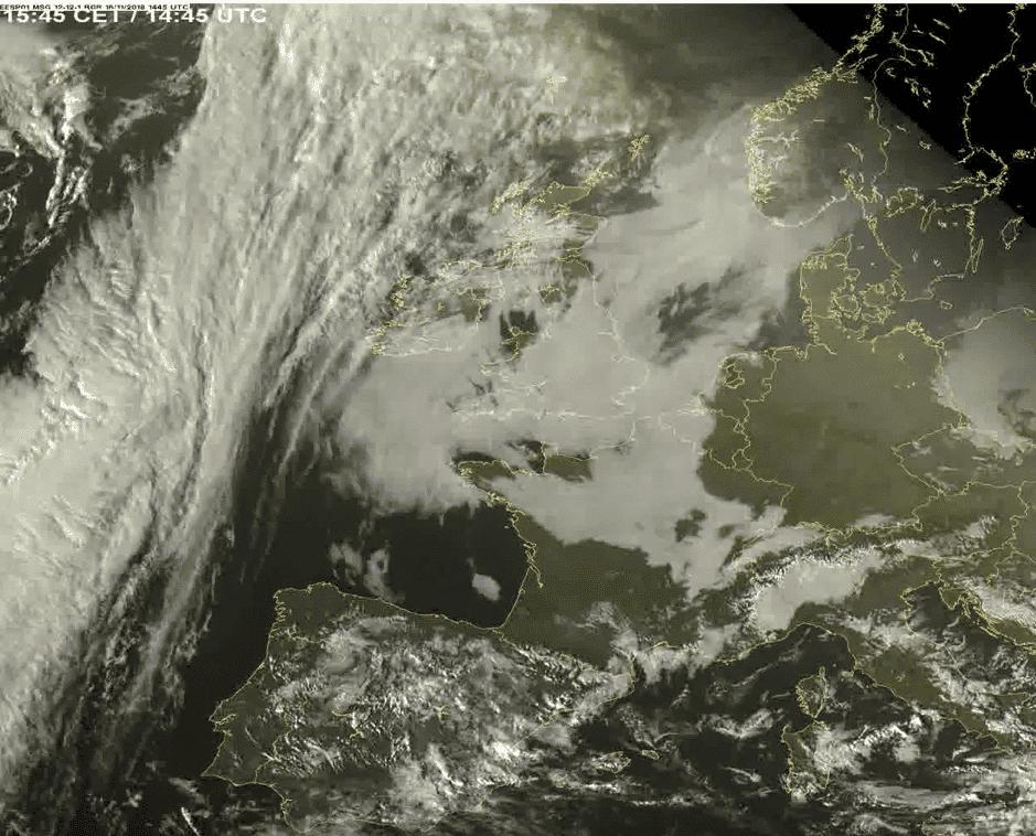 Invloed van het weer op de energiemarkt Lage wolken bedekken het westen en centrum van België
