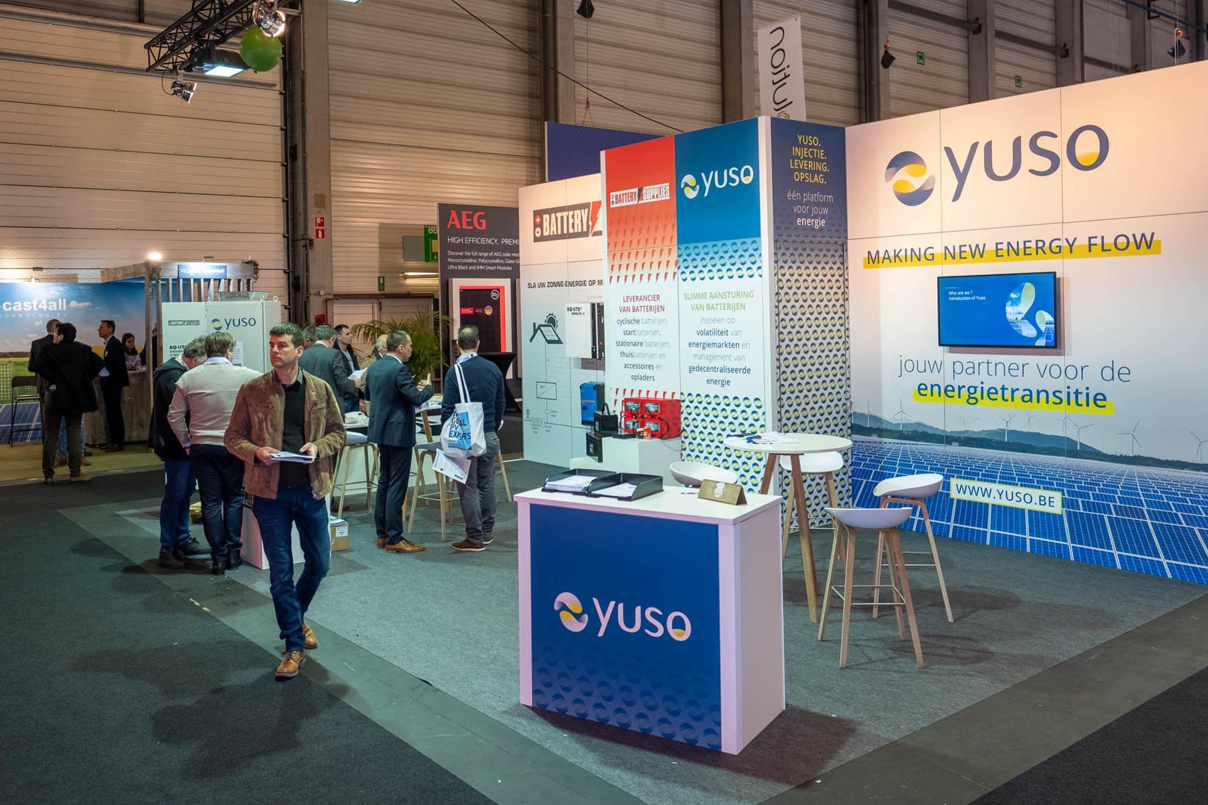 Intersolution beurs batterij KMO opslagsysteem Yuso Battery Supplies NV