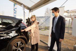 eerste slimme laadplein van België - energiebedrijf Yuso